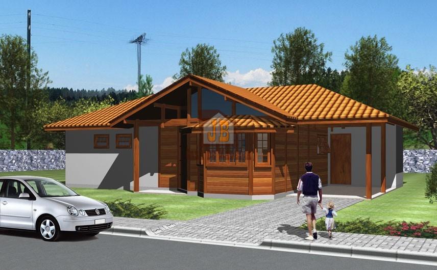 JB Casa de Madeira – Jaguaré-ES - 97,85 m²