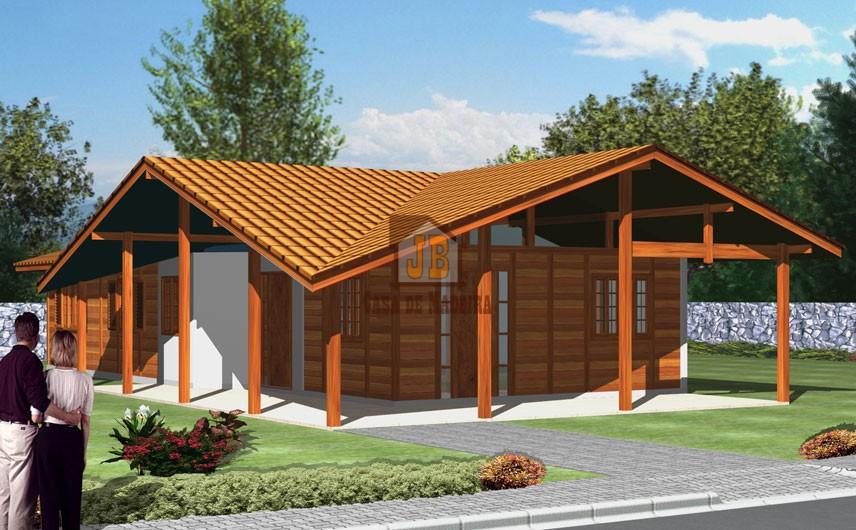 Casa de Madeira – Teixeira de Freitas-BA - 145,23 m²