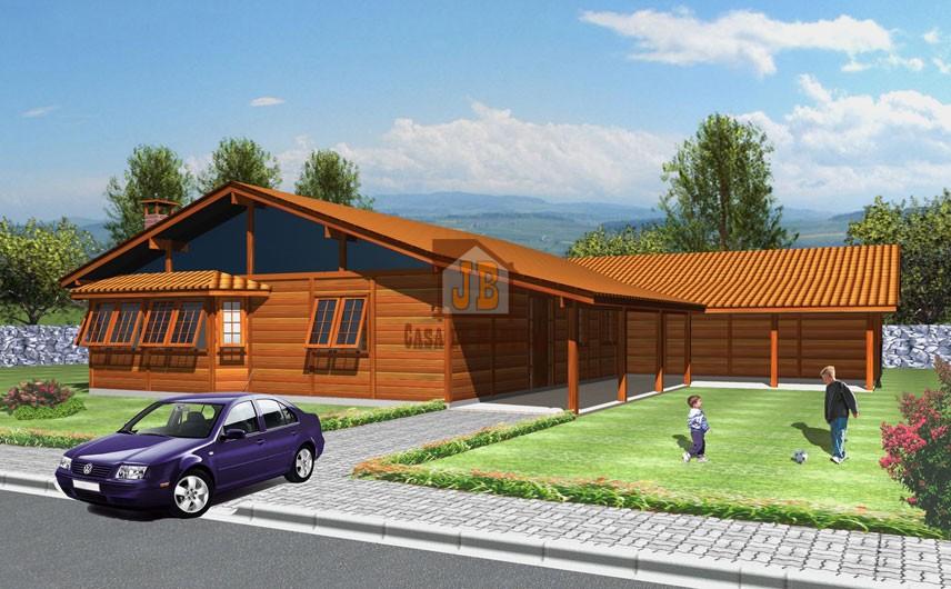 Casa de Madeira – Feira de Santana-BA - 262,13 m²