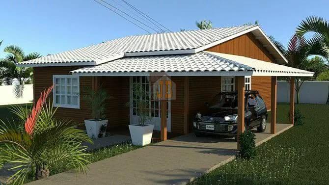 Promoção!!! Belíssima Casa de 60 m²: Pinus em Autoclave