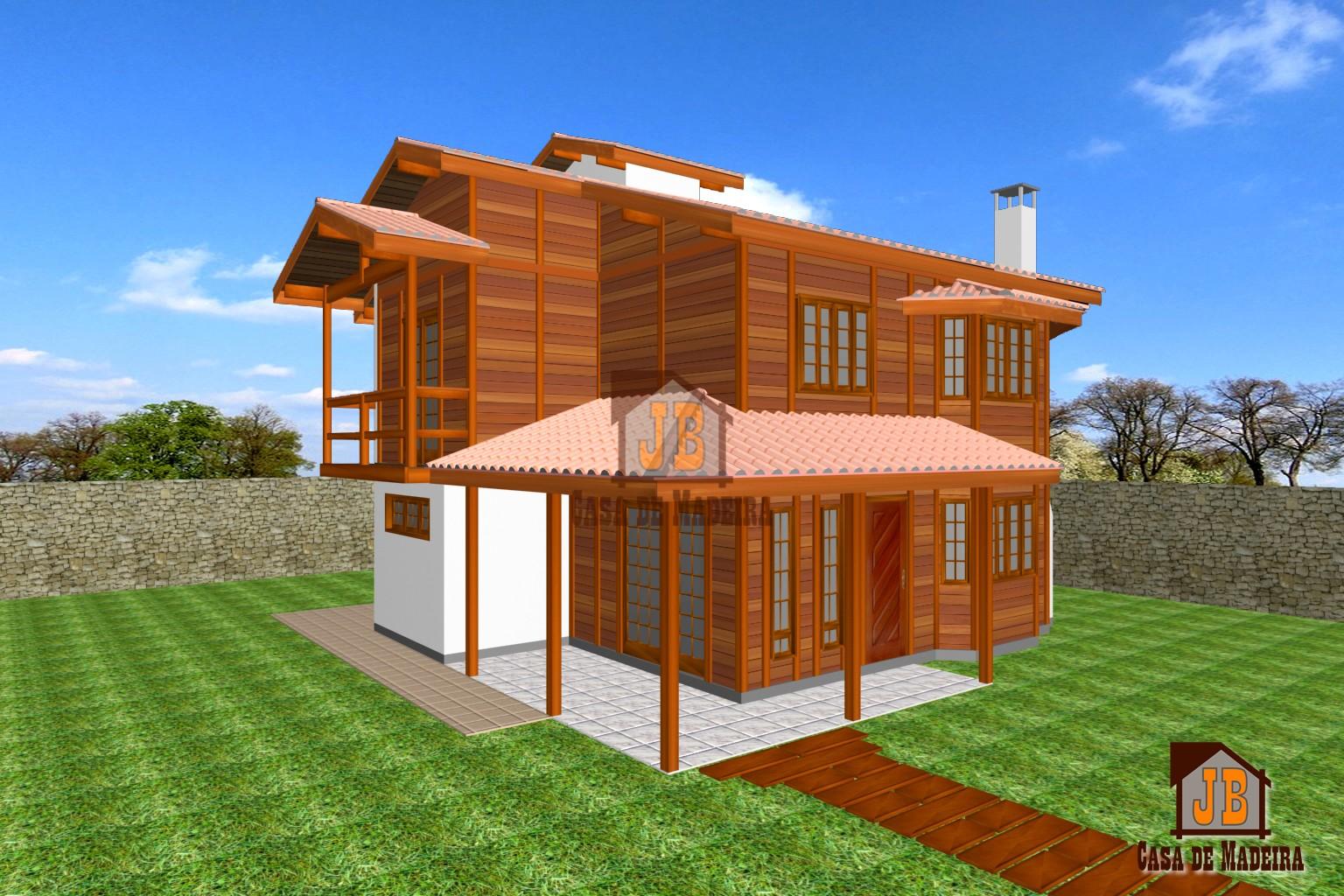 Casa de Madeira Duplex – Divino de São Lourenço-ES - 123,26 m²