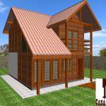 Casa de Madeira Duplex – Aracê-ES – 90,31 m²