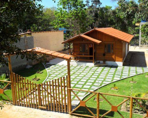 Casa de Madeira de Pinus em Autoclave de 63,37 m²