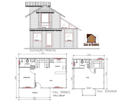 Casa de Madeira – Nova Venécia-ES – 65,00 m²