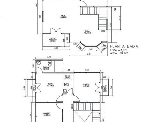 Casa de Madeira – Iúna-ES - 136 m²
